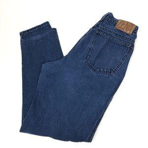 Vintage Zena High Waisted dark Wash Mom Jeans 9